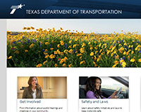 TxDOT Driver page redesign